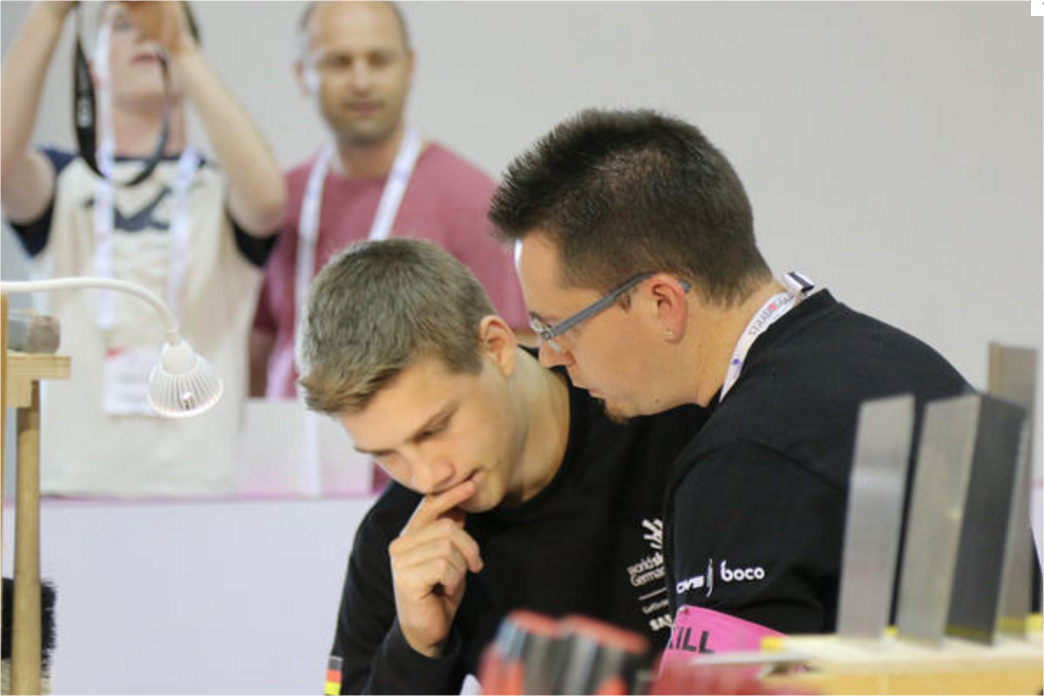 Fabian Ackermann bei den WorldSkills 2017