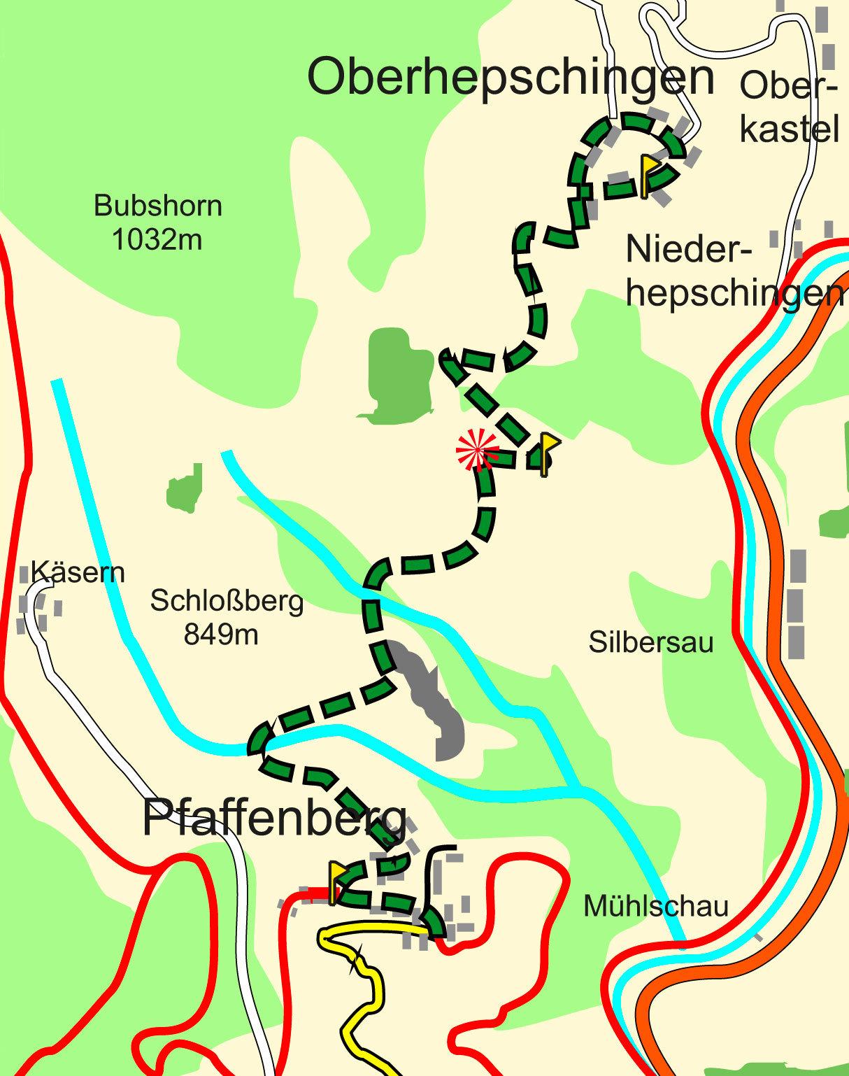 Wanderweg Pfaffenberg nach Oberhepschingen
