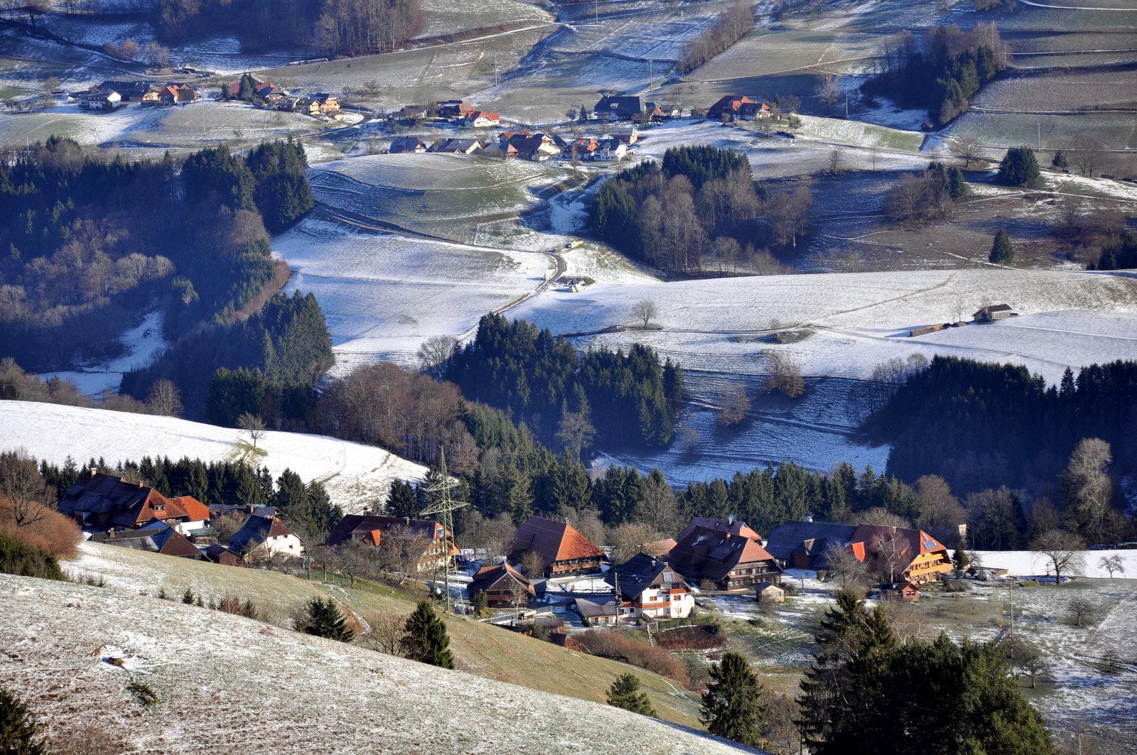 Oberhepschingen mit seinen alten Schwarzwaldhäusern