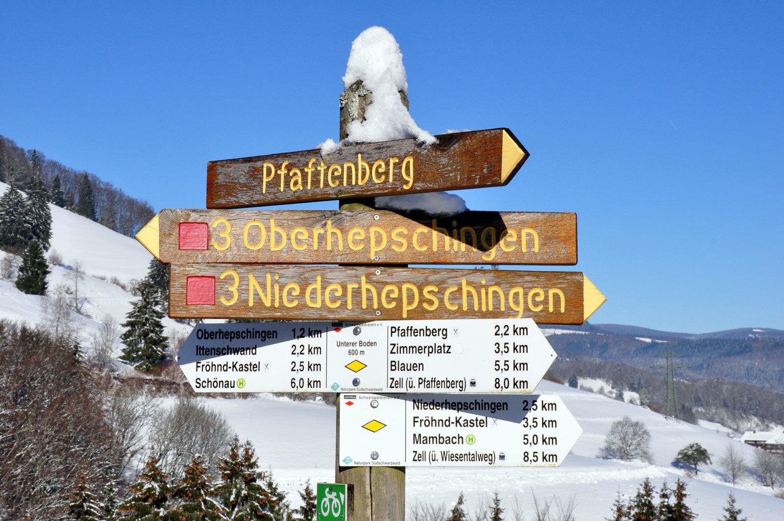 Wegweiser nach Oberhepschingen