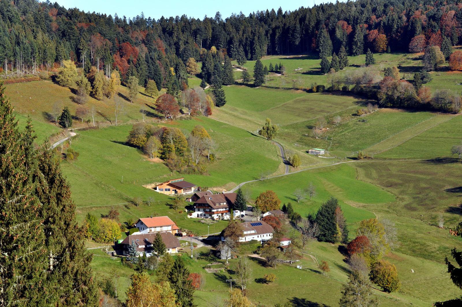 Durch den Weiler Käsern zum Schlossberg