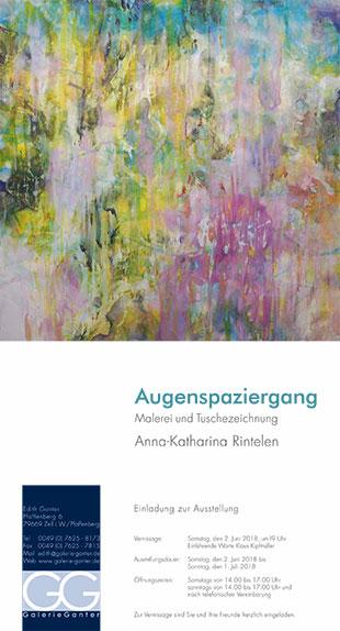 Ausstellung Anna-Katharina Rintelen, Galerie Ganter-1